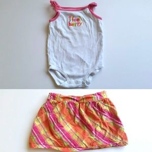 Carter's Matching Skirt Onsie Set